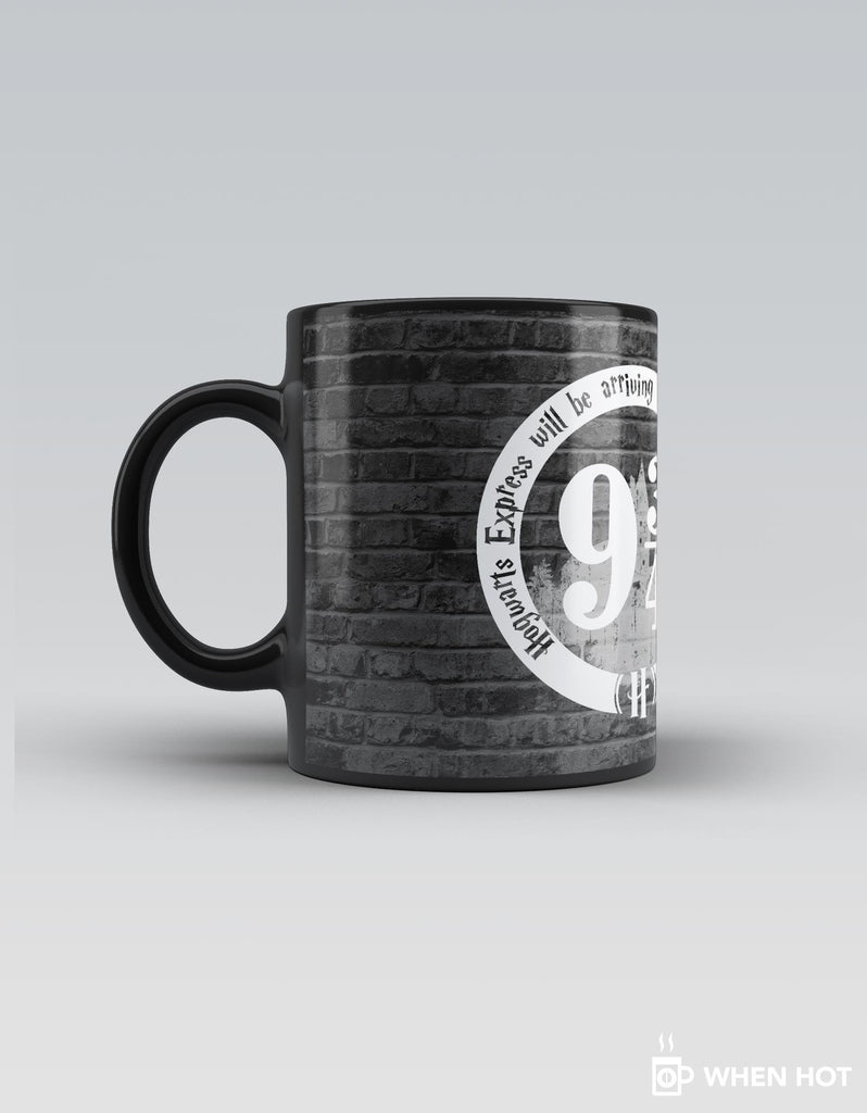 Platform 9 3/4 - Grey Superhero Magic Mug Left Side View