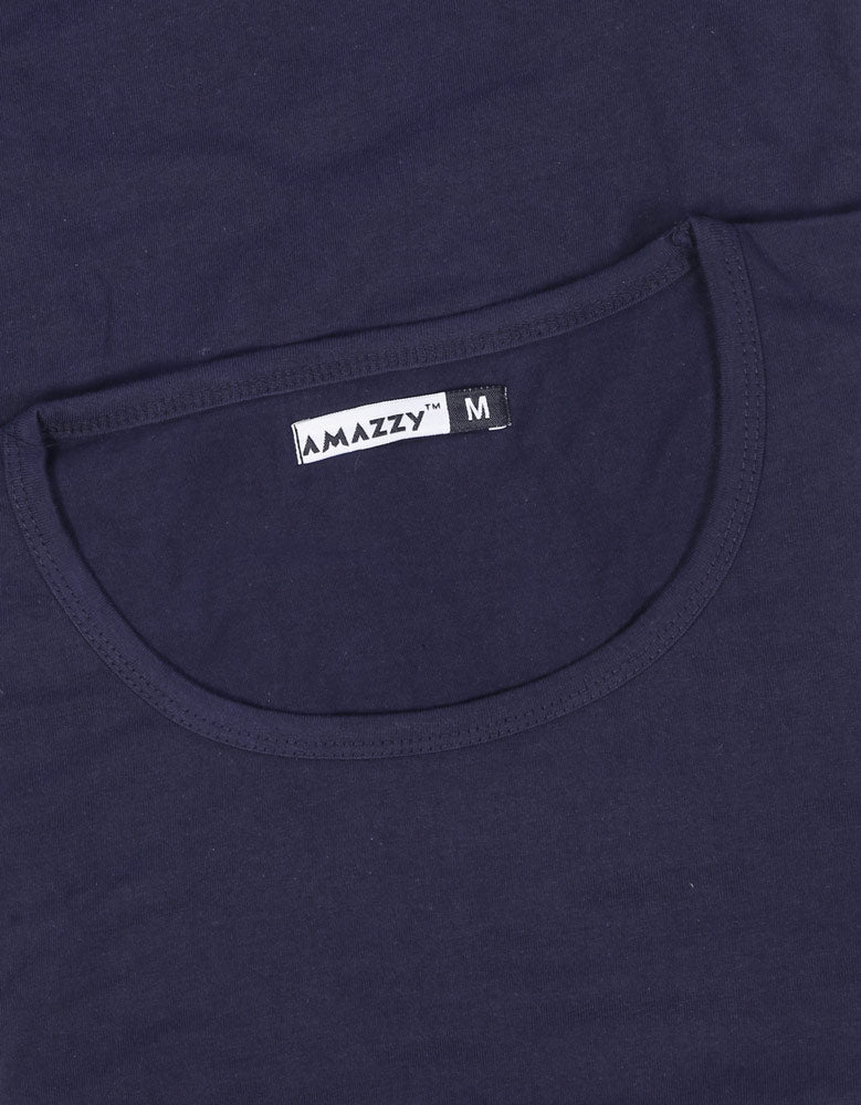 Navy Blue Women's 3/4 Sleeve T-Shirt