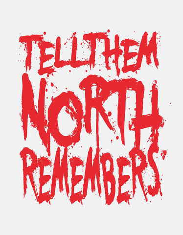 North Remembers - White TV Series Cool Men's Half Sleeve T Shirt Design View