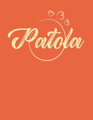 Patola - Rust Orange Women's 3/4 Sleeve Graphic T Shirt
