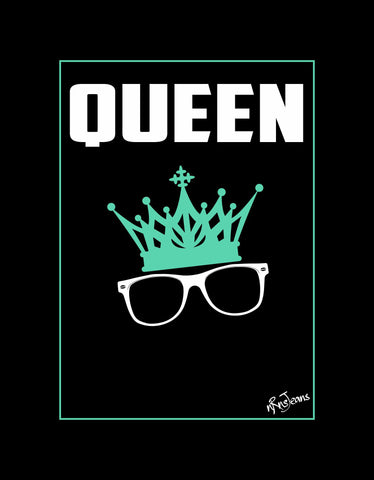 Queen - Black Women's Random Short Sleeve Graphic T Shirt  Design View
