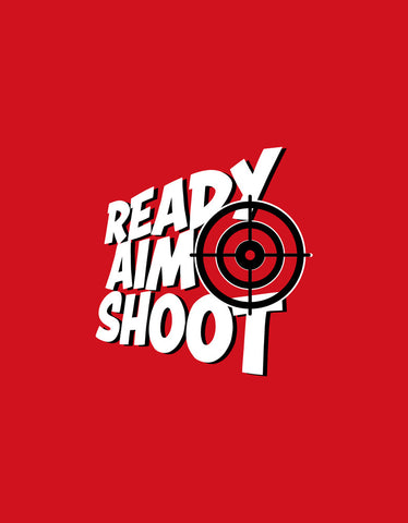 Ready Aim Shoot - Red Men's Funky Boxer Short Design View