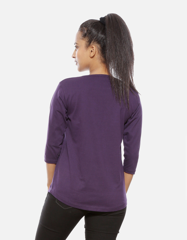 Rules - Brinjal Cool Women's 3/4 Sleeve T Shirt