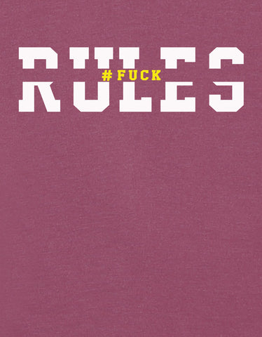 Rules - Maroon Melange Graphic Men's Full Sleeve T Shirt Design View