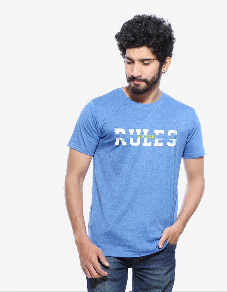 Rules -Men's Half Sleeve T Shirt Model Front View