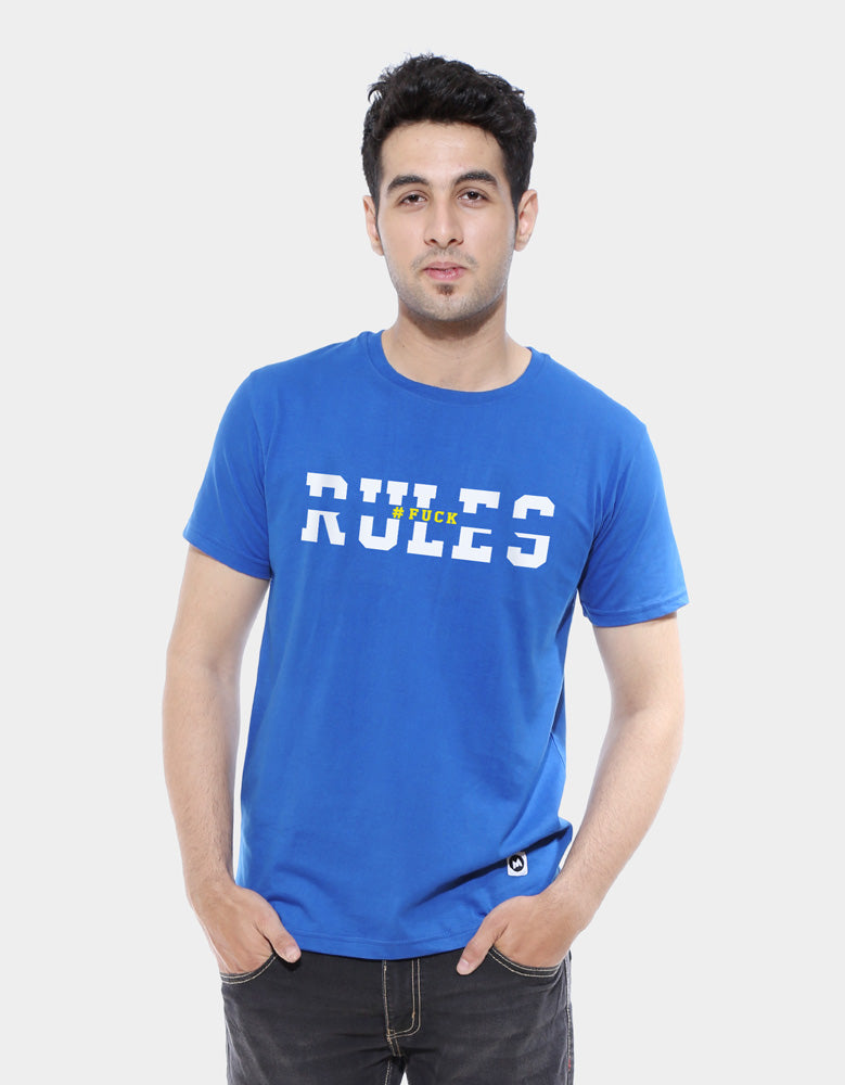 Rules - Men's Half Sleeve T Shirt Model Front View