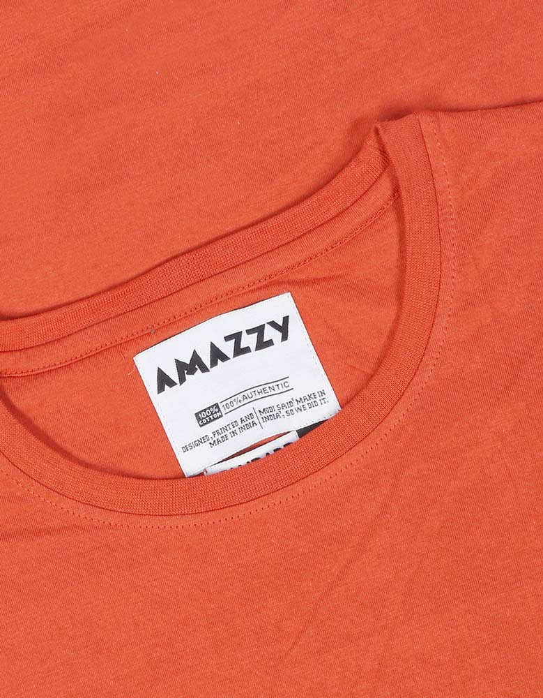 Keep Snoozing - Rust Orange Men's Funny Graphic full sleeve t shirt