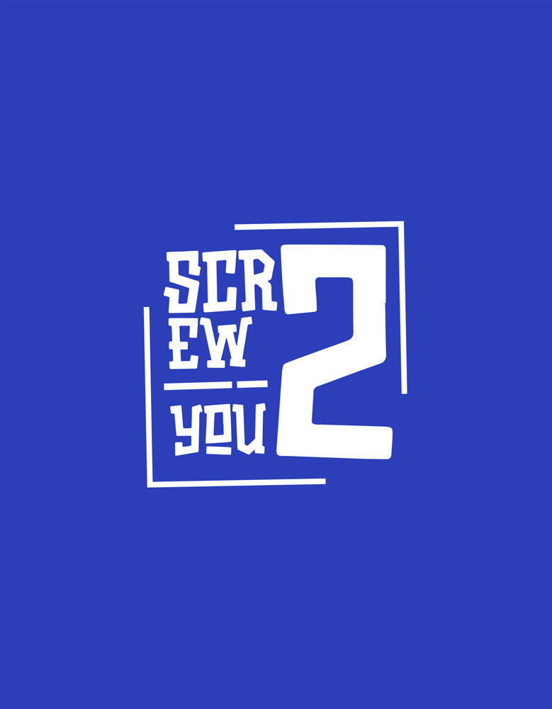 Screw You - Royal Blue Women's Graphic Boxer Short Design View