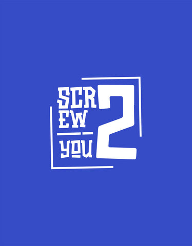 Screw You - Royal Blue Men's Printed Boxer Short Design View