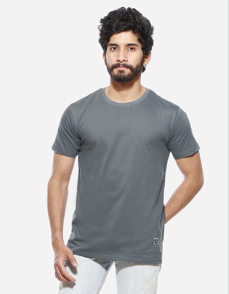 Men's Half Sleeve Combo T shirts | Blue Melange | Tower Grey | White