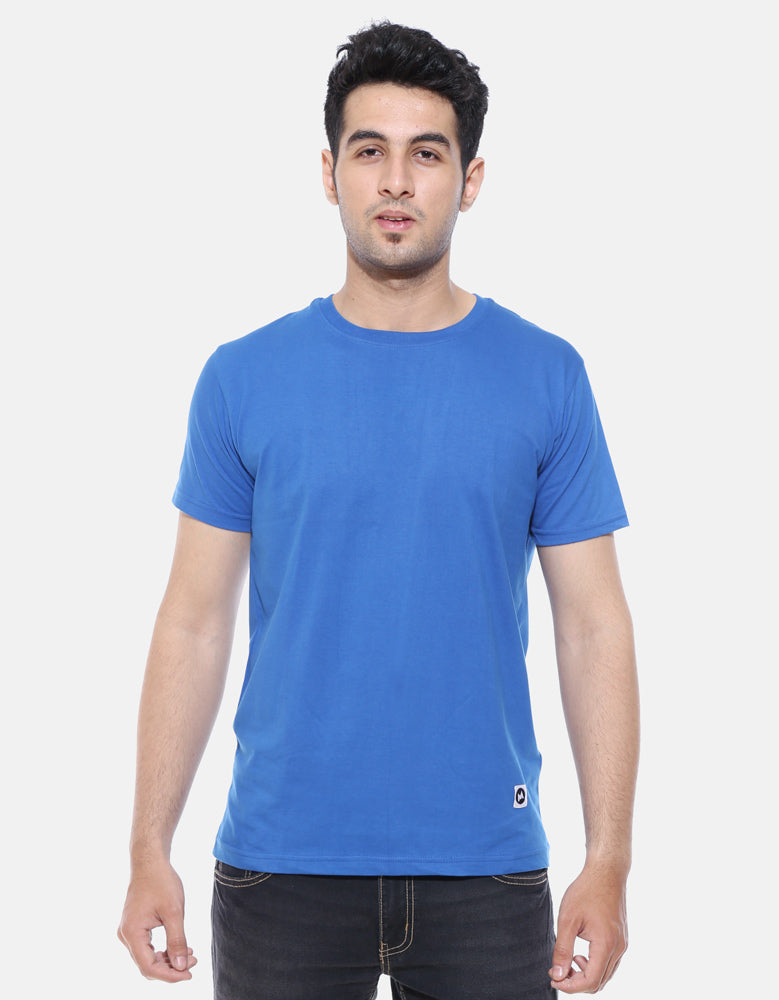 Men's Half Sleeve Combo T shirts | Royal Blue | Lemon Yellow | Charcoal Grey