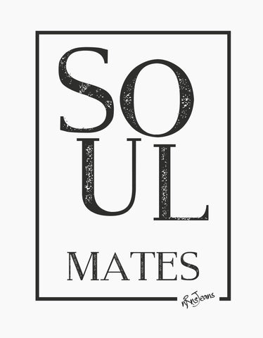 Soulmates - White Women's Random Short Sleeve Graphic T Shirt Design View
