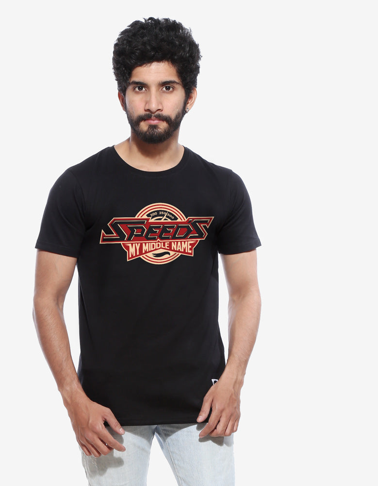 Speeds - Black Biker Men's Half Sleeve T shirt
