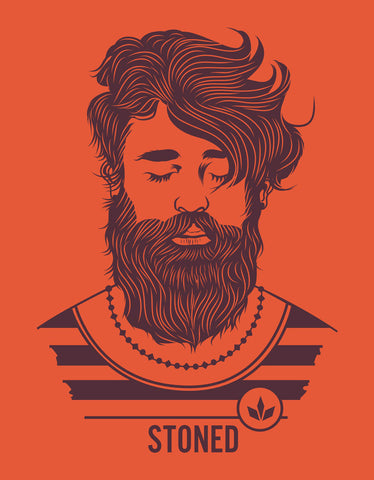 Stoned Hipster - T Shirt Design View