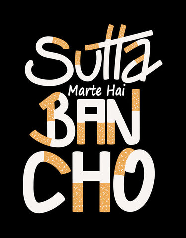 Sutta Marte Hai - Black Men's Bancho Half Sleeve Cool T Shirt Design View