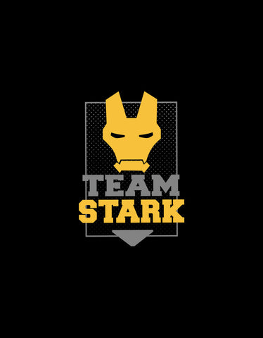 Team Stark - Black Women's Superhero Cool Boxer Short Design View.