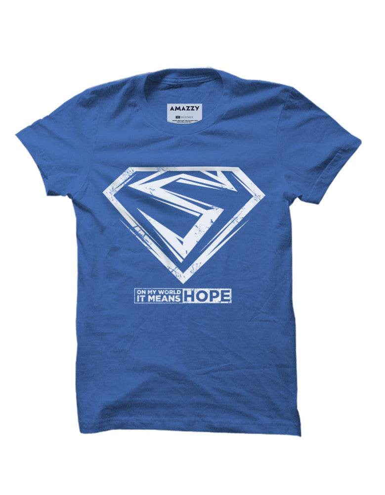 Hope -  Royal Blue Men's Superhero Half Sleeve Cool T Shirt (T-shirt view)
