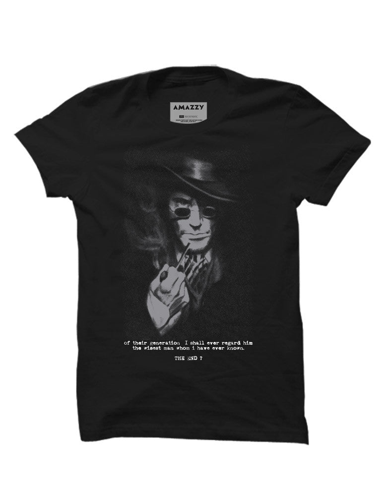The End - Black Men's Half Sleeve Designer T Shirt View