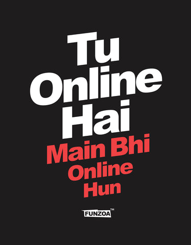 Tu Online Hai Funzoa Half Sleeve Black Graphic T shirt for men