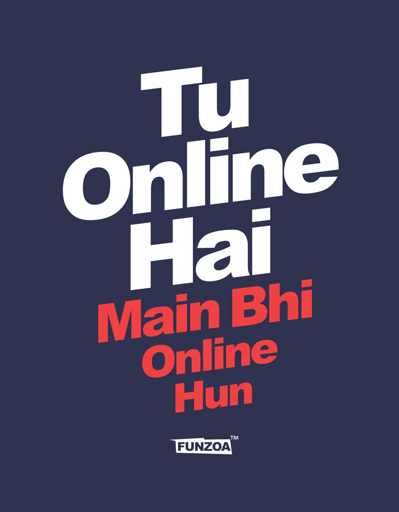 Tu Online Hai Funzoa Navy Blue Graphic T shirt for men