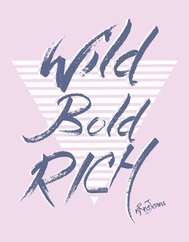 Wild & Bold - Pink Women's Random Short Sleeve Printed T Shirt Design View