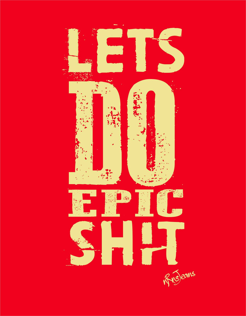 Do Epic Shit - Red Women's Random Short Sleeve Printed T Shirt Design View
