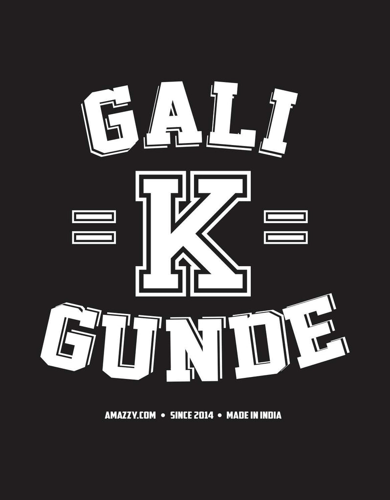 Gali Ke Gunde - Black Men's Full Sleeve Funky T Shirt Design View