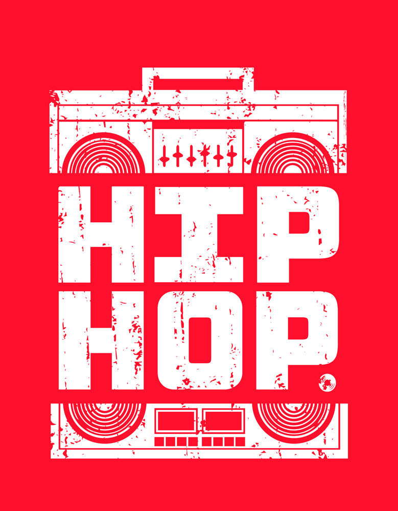 Hip Hop - Red Men's Music Sleeveless Printed vest Design View