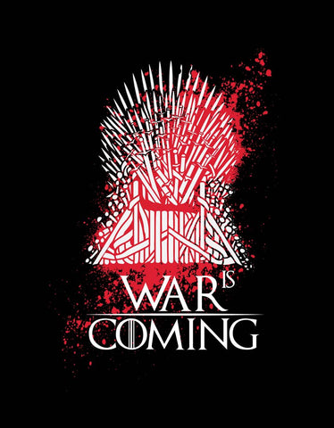 War Is Coming - Black Women's GOT 3/4 Sleeve Cool T Shirt Design View