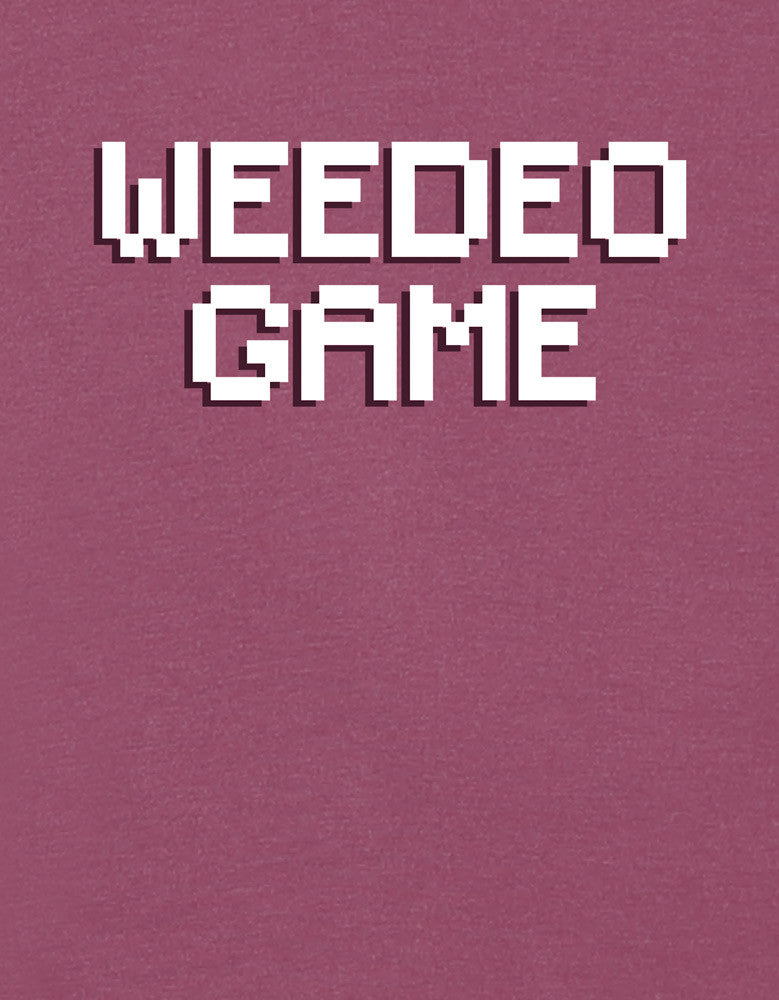 Weedeo Game - Maroon Melange Men's Stoner Graphic Full Sleeve T shirt Design View