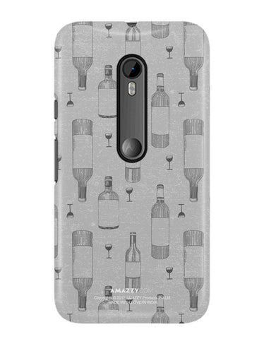 WINE DOODLE - Moto G3 Phone Cover View