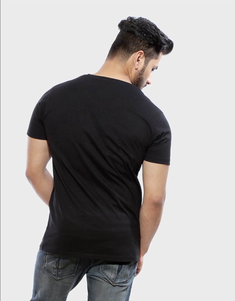 Winter Is Here - Black Men's TV Series Inspired Half Sleeve Trendy T Shirt Model Back View