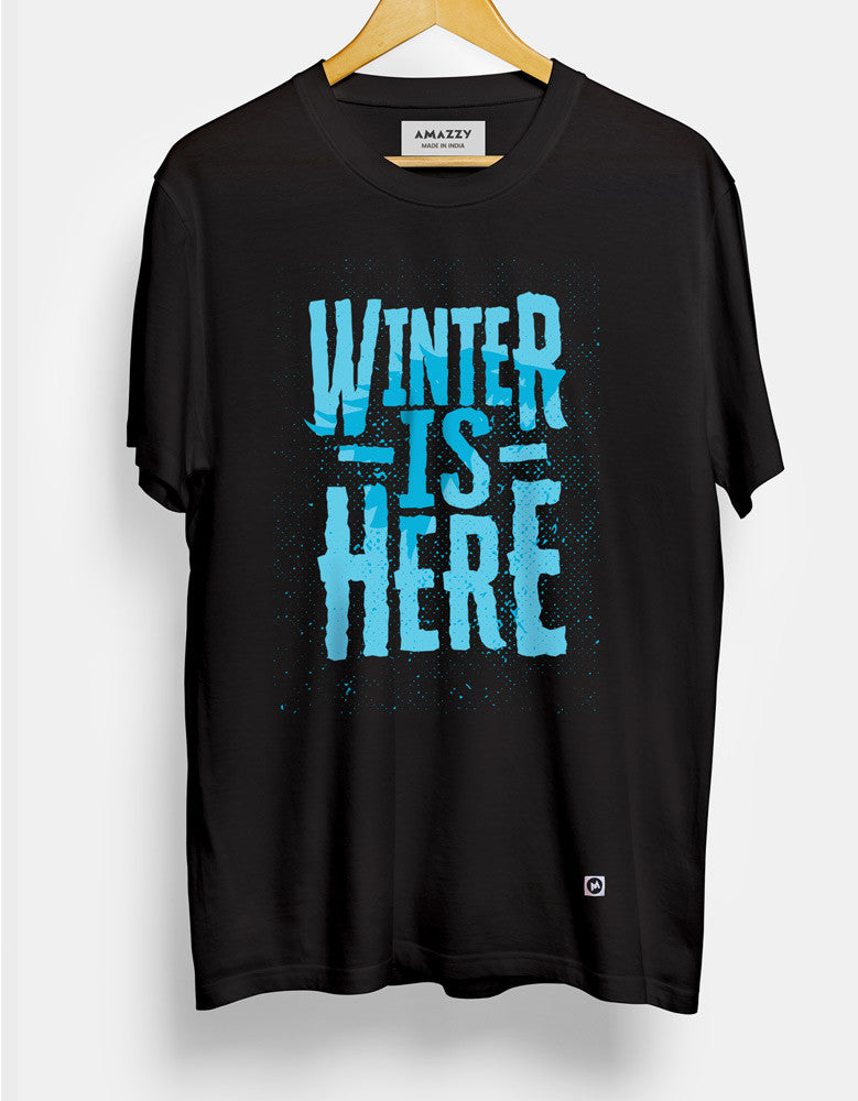 Winter Is Here - Black Men's TV Series Inspired Half Sleeve Trendy T Shirt