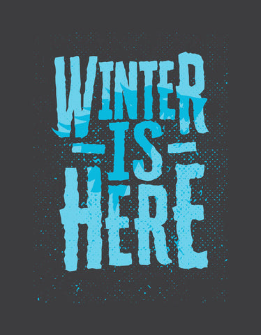Winter Is Here - Charcoal Grey Men's TV Series Inspired Full Sleeve Trendy T Shirt Design View