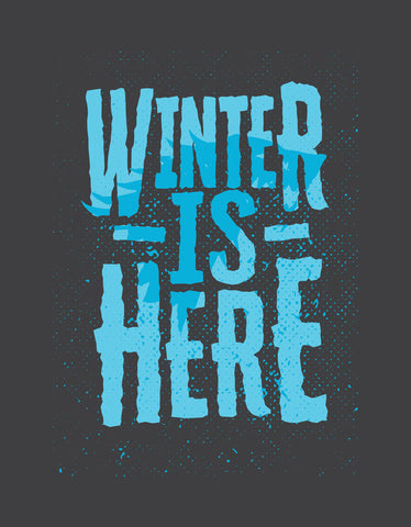 Winter Is Here - Charcoal Grey Men's TV Series Inspired Half Sleeve Trendy T Shirt Design View