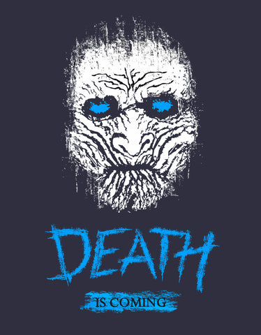 Death Is Coming -  Black Men's GOT Half Sleeve Cool T Shirt (Design view)