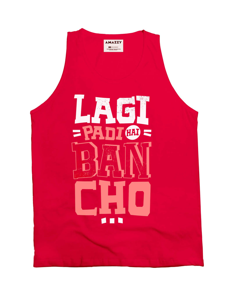 Lagi Padi Hai - Red Men's Bancho Sleeveless Funky Vest View
