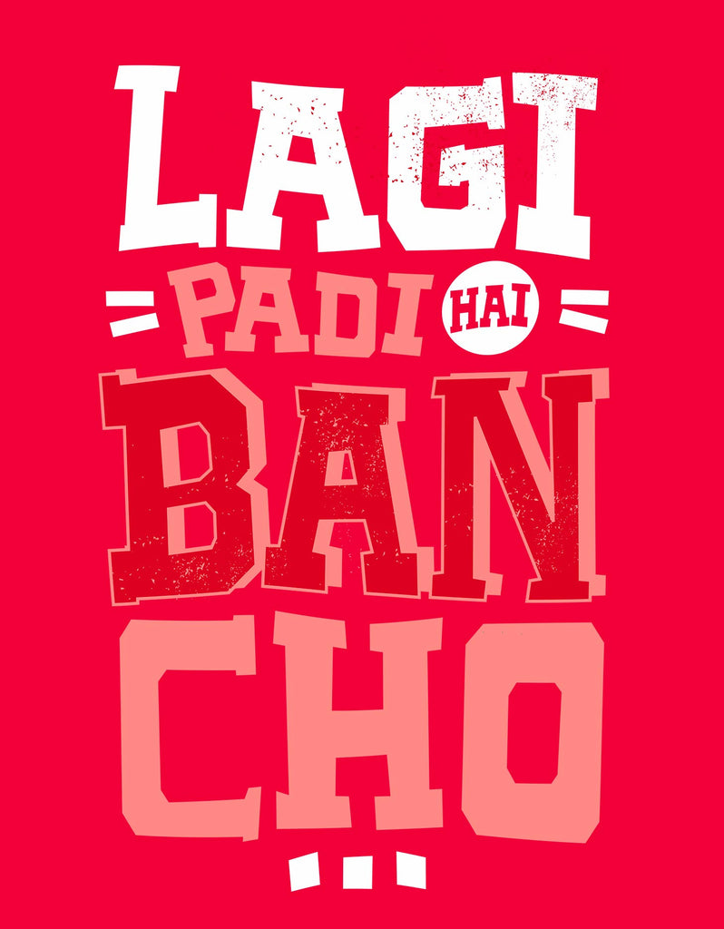 Lagi Padi Hai - Red Men's Bancho Sleeveless Funky Vest Design View
