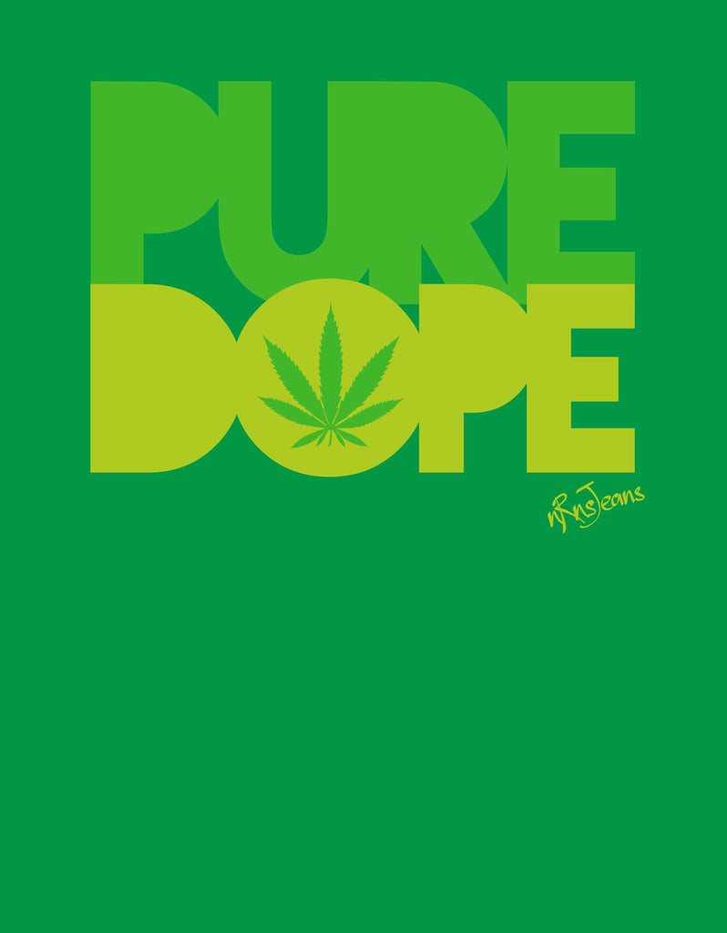 Pure Dope - Green Women's Random Short Sleeve Printed T Shirt  Design View