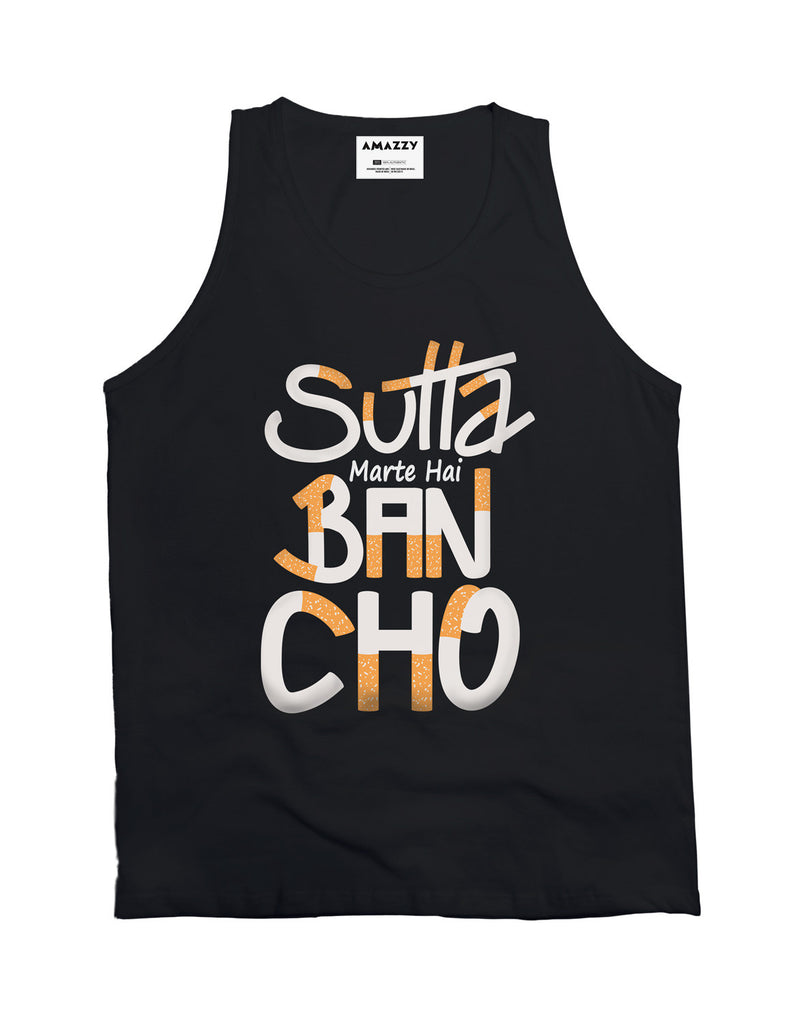 Sutta Marte Hai - Black Men's Bancho Sleeveless Cool Vest View