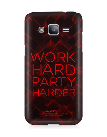 WORK HARD PARTY HARDER - Samsung J3 Phone Cover