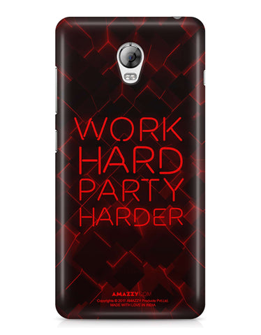 WORK HARD PARTY HARDER - Lenovo Vibe P1 Phone Cover