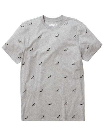 All Over Pigeon Tee (Grey)