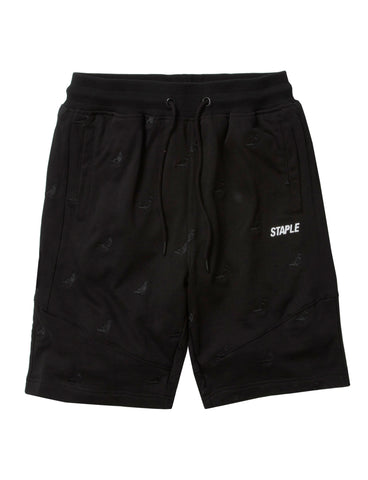Allover Pigeon Poly Shorts