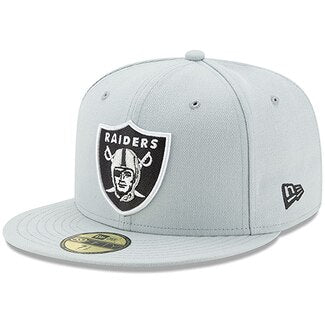OAKLAND RAIDERS GREY 59FIFTY FITTED