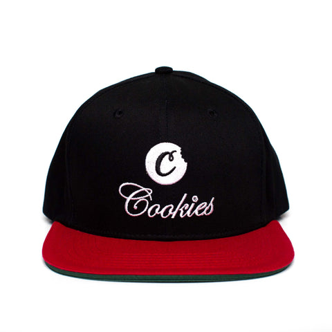 PRESIDIO TWILL SNAPBACK (Black/Red)