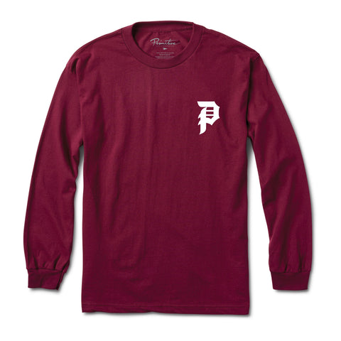 Dirty P Long Sleeve Tee (Burgundy)