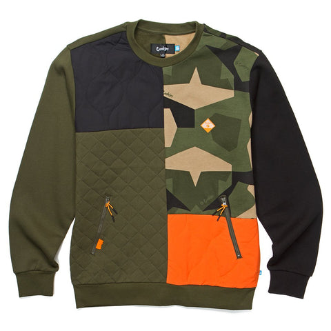 Botanical Fleece Crewneck (Olive)