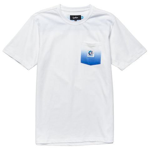 Break of Dawn Pocket Knit (White/Royal)
