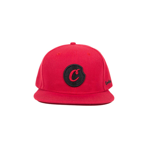 C-BITE TWILL SNAPBACK (Red/Black)